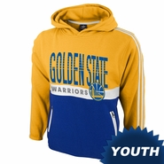 Golden State Warriors adidas Youth Secondary Logo Playa Pullover Hoody - Gold/Royal