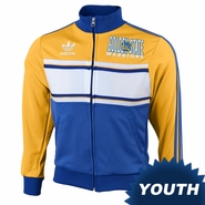 Golden State Warriors adidas Youth Secondary Logo Playa Track Jacket - Gold/Royal
