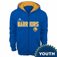 Golden State Warriors adidas Youth �Stated� Full Zip Fleece Hoodie � Royal