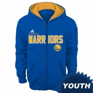Golden State Warriors adidas Youth �Stated� Full Zip Fleece Hoodie - Royal