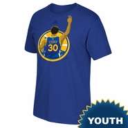 Golden State Warriors adidas Youth Stephen Curry #30 3-Point Splash Tee � Royal