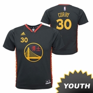 Golden State Warriors adidas Youth Stephen Curry #30 Chinese Heritage Replica Jersey - Slate