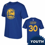 Golden State Warriors adidas Youth Stephen Curry Gametime Tee � Royal