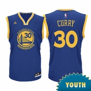 Golden State Warriors adidas Youth Stephen Curry Replica Jersey - Royal