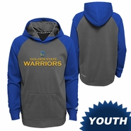 Golden State Warriors adidas Youth Team Wordmark Tip-Off Pullover Hood - Grey/Royal
