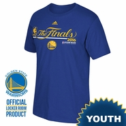 "Golden State Warriors adidas Youth ""The Finals"" Authentic Edition Locker Room Tee - Royal"