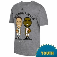 Golden State Warriors adidas Youth The Finals Curry vs. James Geek'd Up Tee - Grey