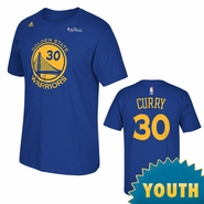 Golden State Warriors adidas Youth The Finals Replica Tee - Stephen Curry - Royal