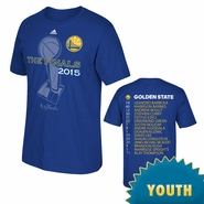 Golden State Warriors adidas Youth The Finals Roster Tee - Royal - Will Ship 6/9