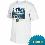 Golden State Warriors adidas Youth TRB Champs Banner Tee - White