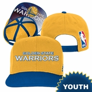 Golden State Warriors adidas Youth Wordmark On-Court Snapback � Royal/Gold