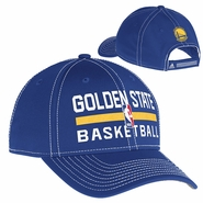 Golden State Warriors Adjustable Practice Logo Cap - Blue