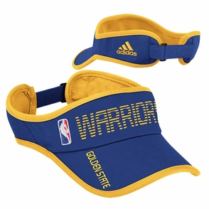 Golden State Warriors Adjustable Sun Visor - Blue/Gold - Click to enlarge
