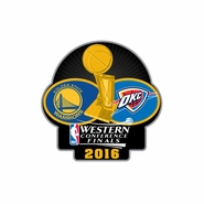 Golden State Warriors Aminco 2016 Western Conference Finals Match Up Pin