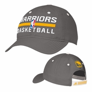 Golden State Warriors Authentic adidas Adjustable Slouch Cap - Grey
