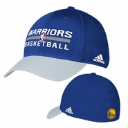 Golden State Warriors Authentic adidas Practice Structured Flex Cap - Royal