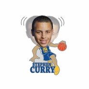 Golden State Warriors Stephen Curry Bobblehead Pin