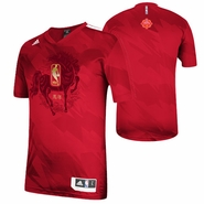 Golden State Warriors adidas Chinese New Year Short Sleeve Shooter-Red