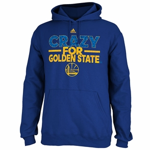 Golden State Warriors Crazy City Adidas Fleece Hoodie-Royal - Click to enlarge
