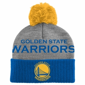 Golden State Warriors adidas Cuffed Pom Knit (KIDS)-Multi - Click to enlarge