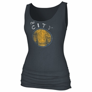 "Golden State Warriors adidas Dissolved ""The City"" Logo Banded Tank-Grey"