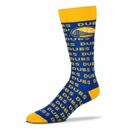 Golden State Warriors DUBS Repeat Socks - Royal/Gold