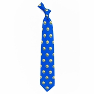 Golden State Warriors Eagles Wings Partial Logo Silk Printed Neck Tie - Royal