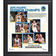 Golden State Warriors Fanatics Authentic 2015 Pacific Division Champions 15x17 Framed Collage