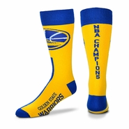 Golden State Warriors For Bare Feet Big Top Champs Socks - Gold - Will Ship 7/8