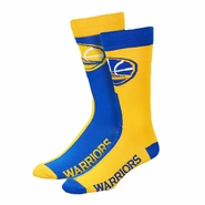 Golden State Warriors For Bare Feet Big Top Mismatch Socks - Royal/Gold