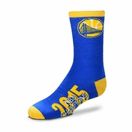 Golden State Warriors For Bare Feet Team Color Champs Socks - Royal - Will Ship 7/8