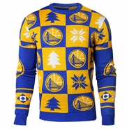 Golden State Warriors Forever Collectibles 2016-2017 Patches Ugly Crew Sweater