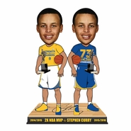 Golden State Warriors Forever Collectibles Stephen Curry #30 Back to Back MVP 2 Player Bobblehead
