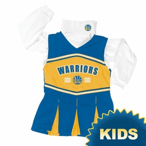 Golden State Warriors Girl's (4-6X) Long Sleeve Cheerleader Jumper - Click to enlarge