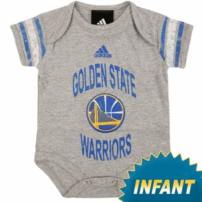 Golden State Warriors Grey Infant Partial Logo Foldover Neck Creeper - Click to enlarge
