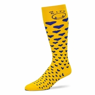 Golden State Warriors Hardwood Classic Descending Heart Grid Socks - Multi Colored