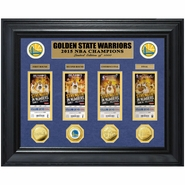 Golden State Warriors Highland Mint 2015 NBA Finals Champions Deluxe Gold Coin & Ticket Collection