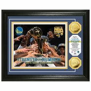 Golden State Warriors Highland Mint 2015 NBA Finals Champions Strength in Numbers Gold Coin Photo Mint