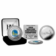 Golden State Warriors Highland Mint 2015 Western Conference Champions Silver Mint Coin