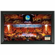 Golden State Warriors Highland Mint Framed 2015 Playoffs Signature Court Panoramic Photo