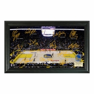 Golden State Warriors Highland Mint Framed Signature Court Panoramic Photo