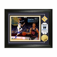 Golden State Warriors Highland Mint Framed Stephen Curry 2015 All-Star Photo with Used Net and Coin