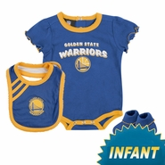 Golden State Warriors Infant Girl's Primary Logo Bib & Bootie Set