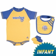 Golden State Warriors Infant Partial Logo Bib & Bootie Set