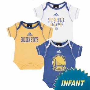 Golden State Warriors Infant Primary Logo 3-Piece Bodysuit Set - Click to enlarge