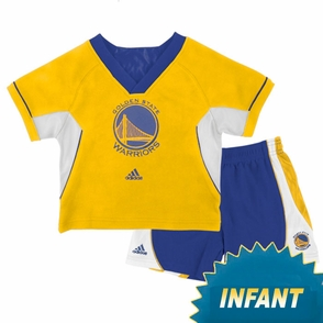 Golden State Warriors Infant Primary Logo Raglan Crew Short Set - Click to enlarge