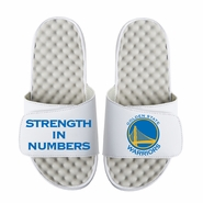"""Golden State Warriors ISlide Primary Logo """"Strength In Numbers"""" Slides - White"""