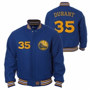 Golden State Warriors JH Design Kevin Durant #35 All-Wool Jacket - Royal