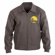 Golden State Warriors JH Design Men's Cotton Twill Workwear Jacket - Charcoal