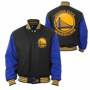 Golden State Warriors JH Design Two-Tone All-Wool Jacket - Black/Royal